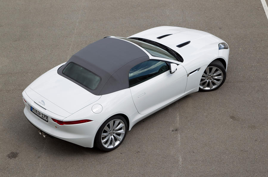 Jaguar F-type V6 S roof up