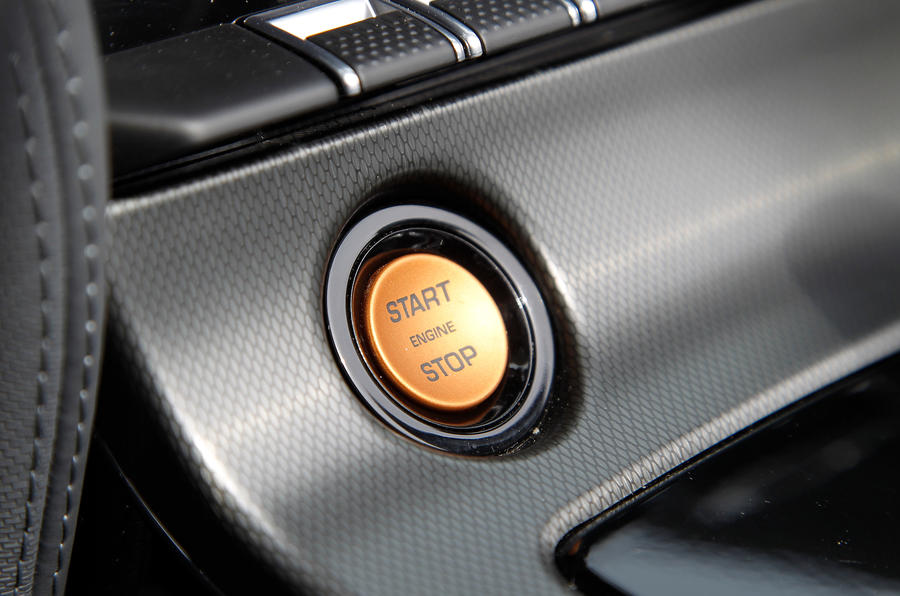 Jaguar F-type V6 S ignition button