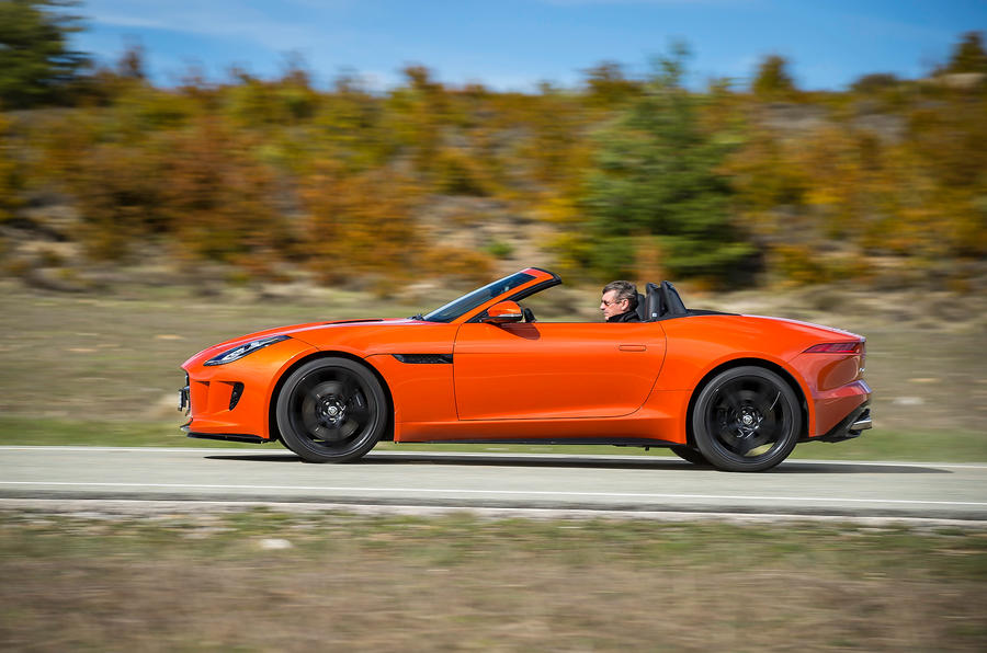 Jaguar F-type V8 S side profile