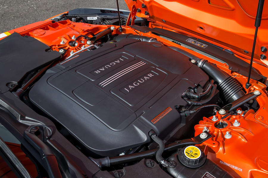 5.0-litre V8 Jaguar F-type engine