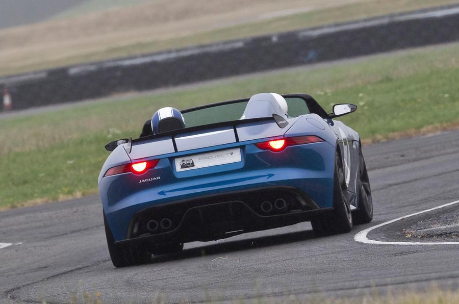 Jaguar Project 7 hard cornering