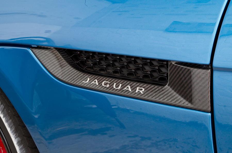 Jaguar Project 7 side vents