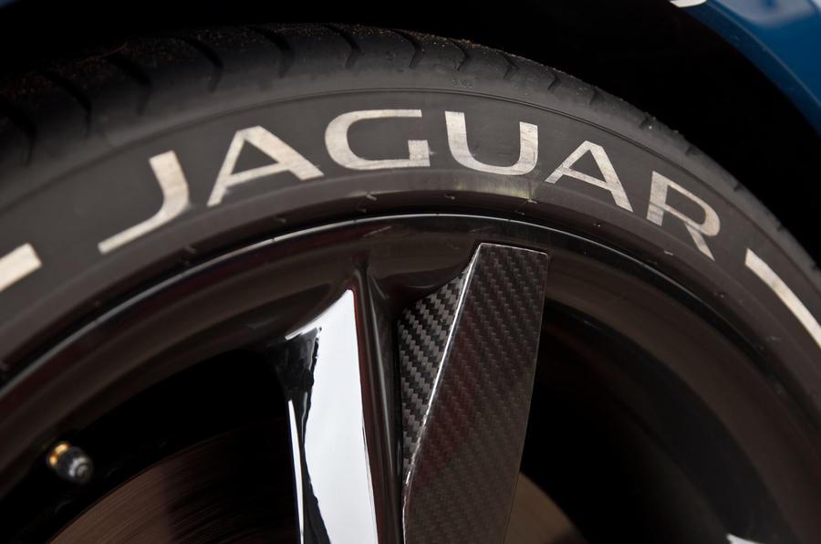 Jaguar Project 7 branded tyres