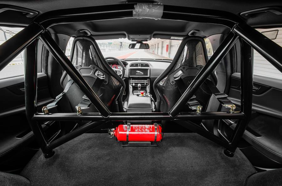 Jaguar XE SV Project 8 2018 road test review rollcage