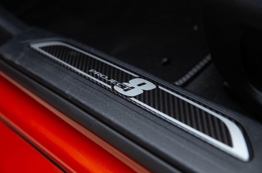 Jaguar XE SV Project 8 2018 road test review scuff plates