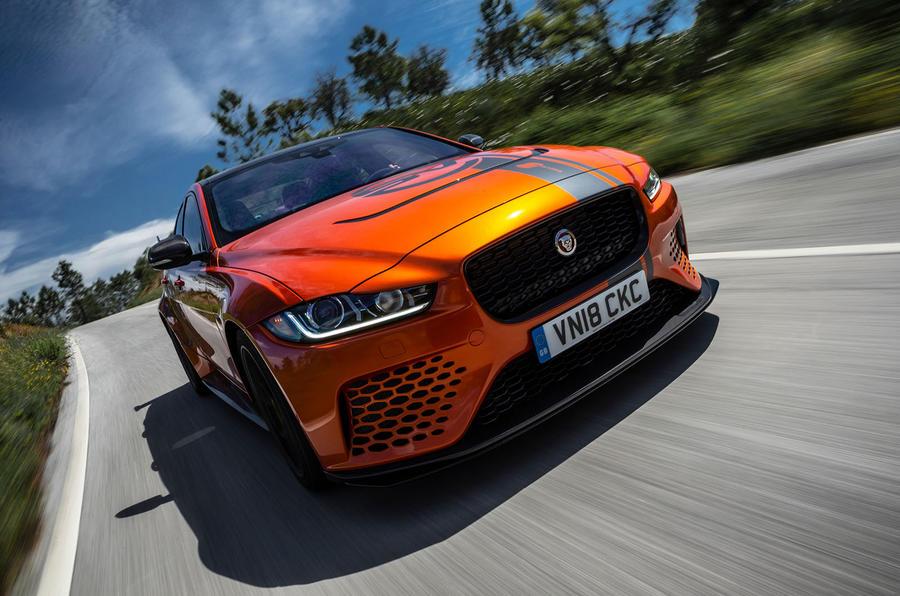 Jaguar XE SV Project 8 2018 road test review hero action