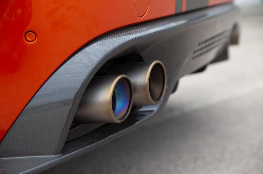 Jaguar XE SV Project 8 2018 road test review exhausts