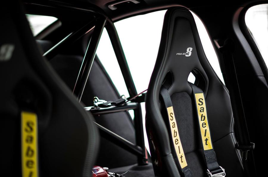 Jaguar XE SV Project 8 2018 road test review seats