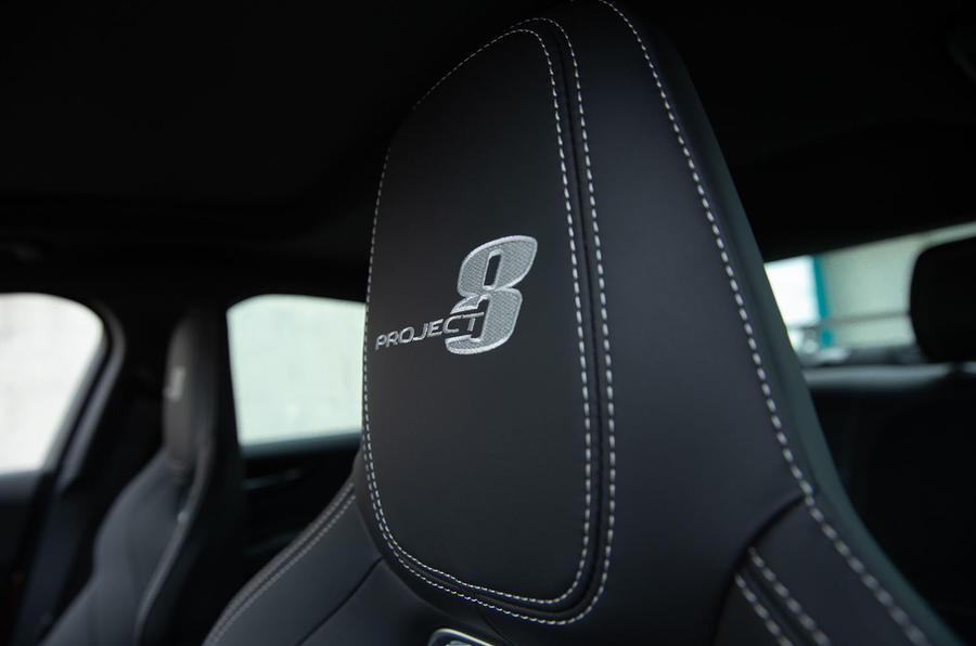 Jaguar XE SV Project 8 2018 road test review seat stitching