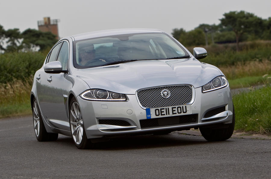 Jaguar XF cornering