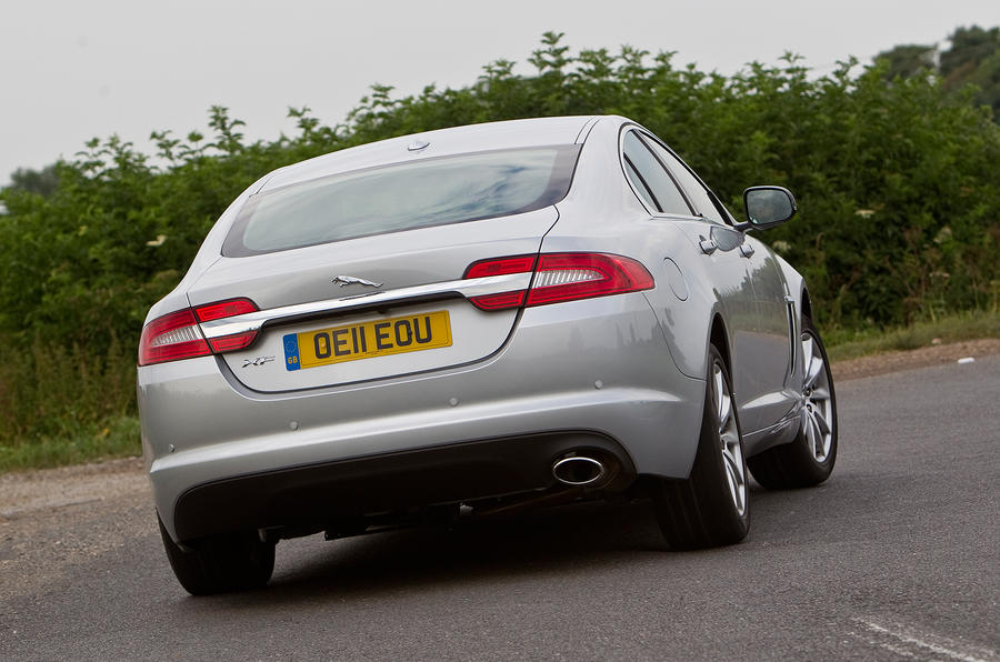 Jaguar XF rear cornering