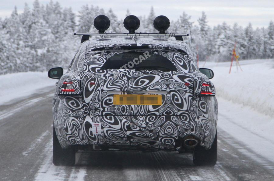 Jaguar XF Sportbrake scooped