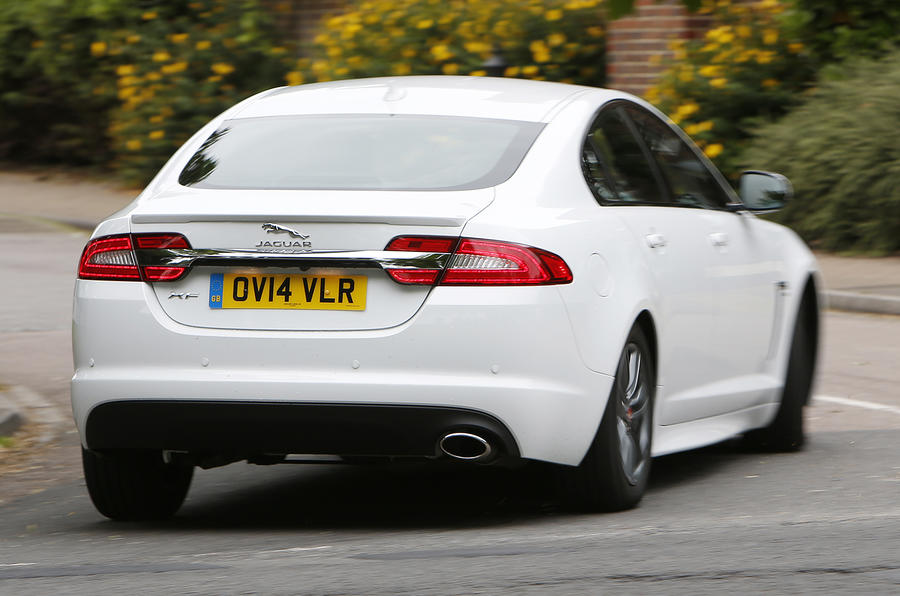 Jaguar XF R-Sport rear cornering