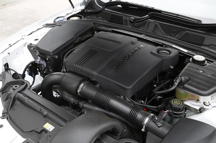 2.2-litre Jaguar XF R-Sport diesel engine