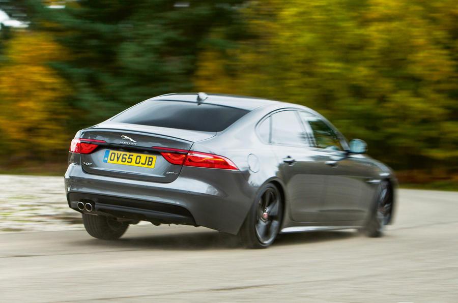 Jaguar XF rear cornering