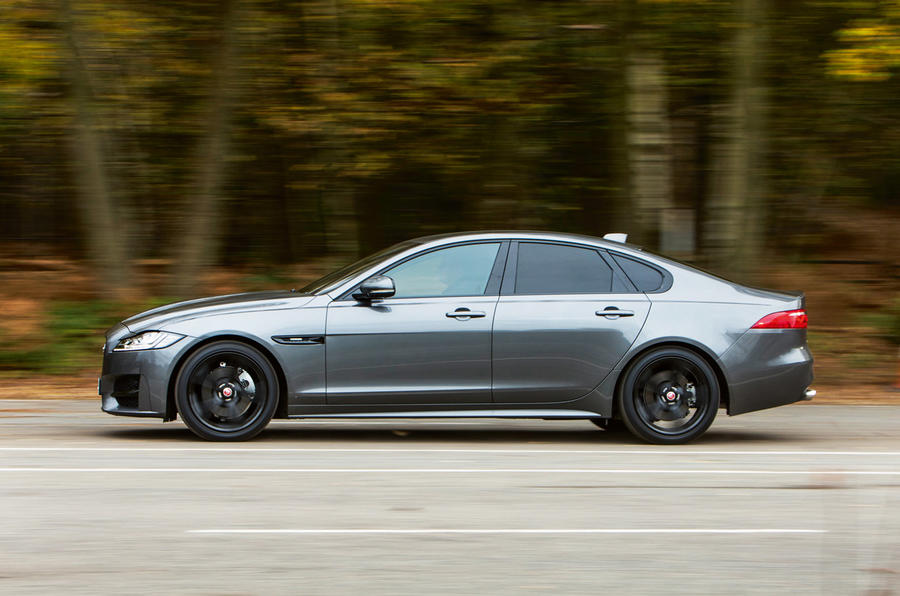Jaguar XF side profile