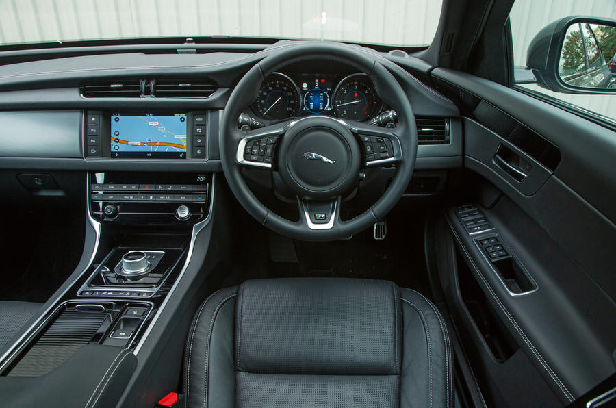 Inside the Jaguar XF cabin
