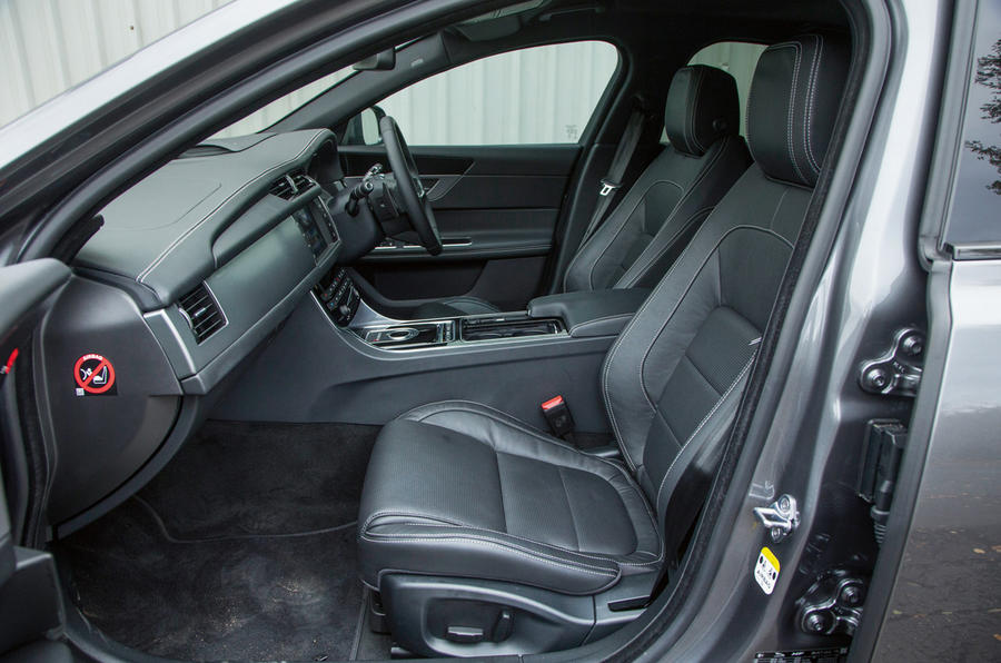 Jaguar XF front seats comfort is without question