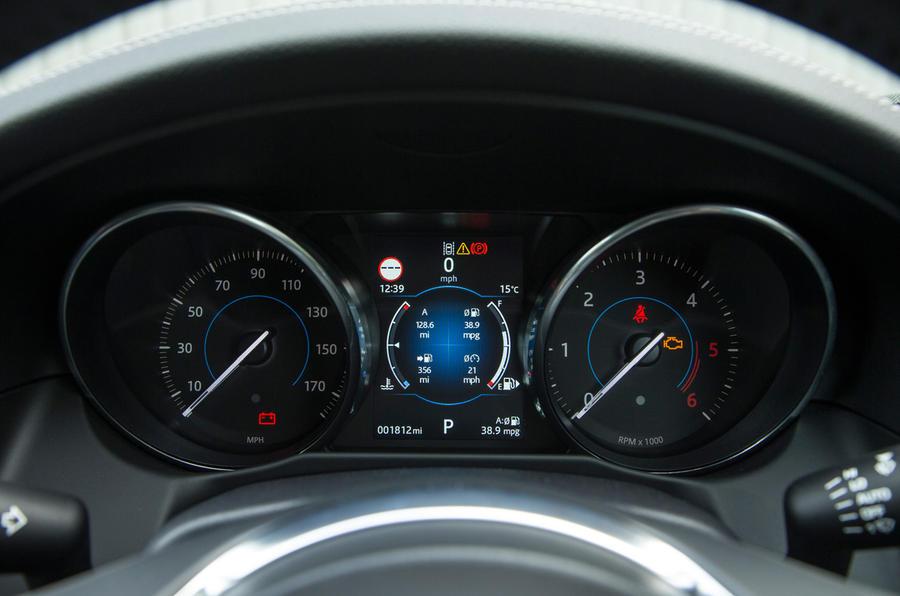 Jaguar XF instrument cluster