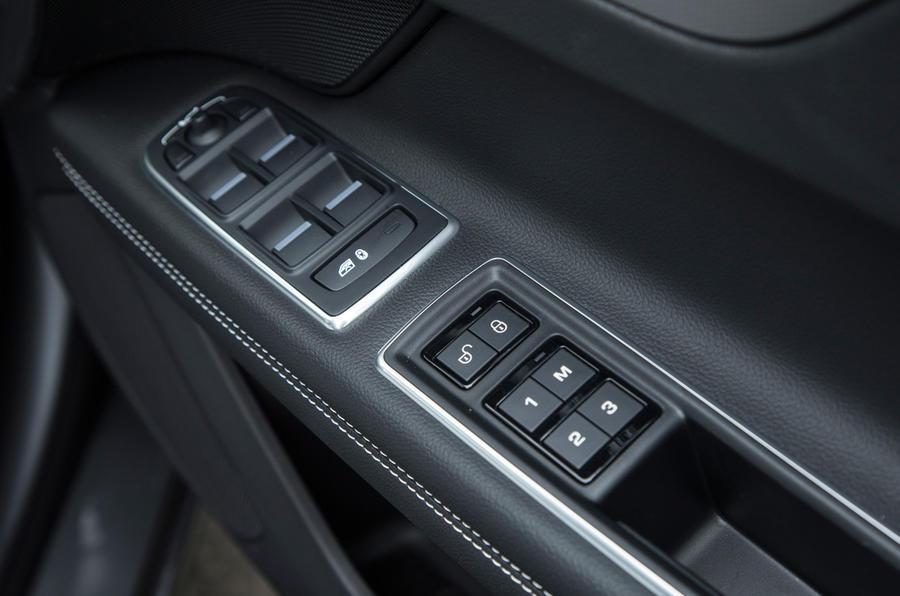 Jaguar XF driver's door card