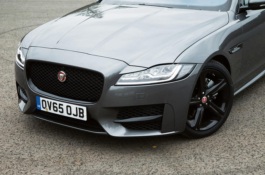 Jaguar XF's new mesh grille