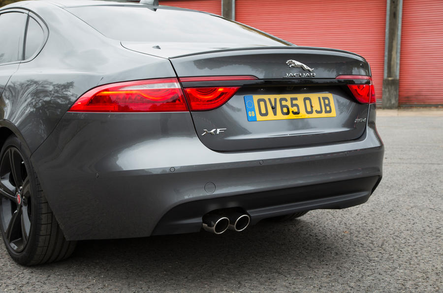 Jaguar XF's bootlid spoiler is part of the R-Sport's modest bodykit