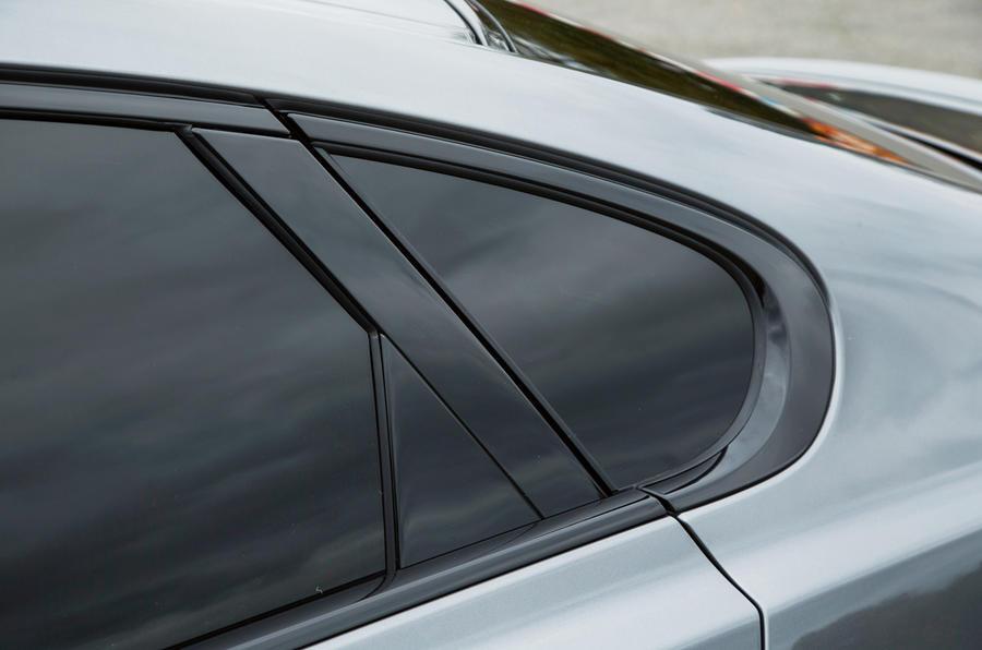 Jaguar XF rear window