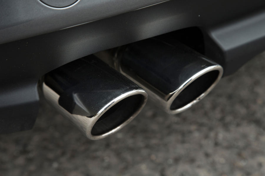 Jaguar XF exhaust