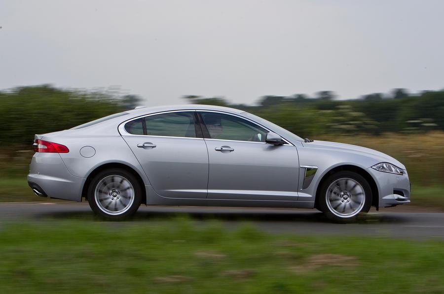 Jaguar XF side profile