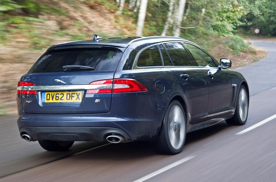 Jaguar XF Sportbrake rear cornering