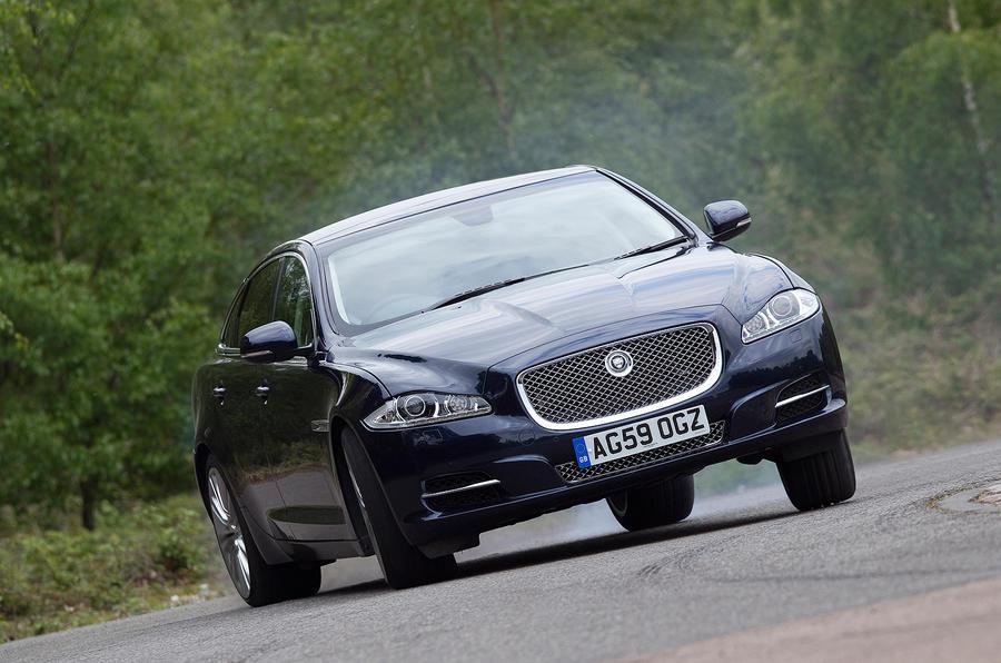 Jaguar XJ hard cornering