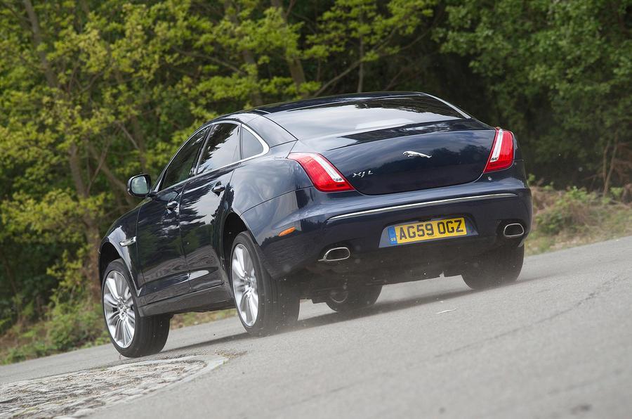 Jaguar XJ hard rear cornering