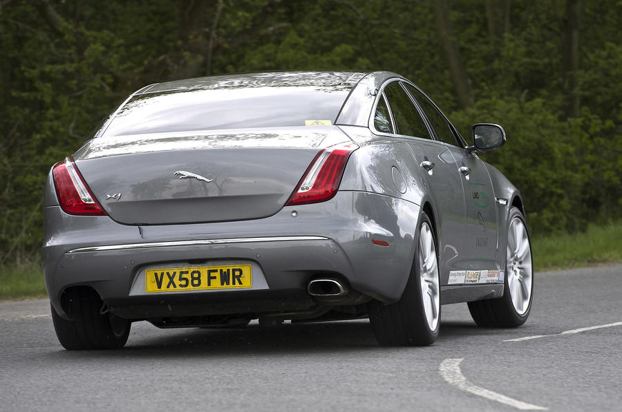 50g/km Jaguar XJ driven