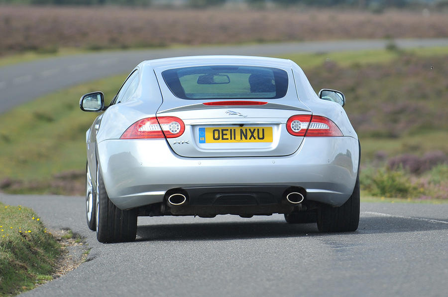 Jaguar XK rear cornering