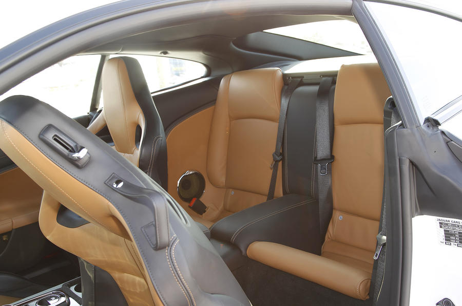 Jaguar XK rear seats