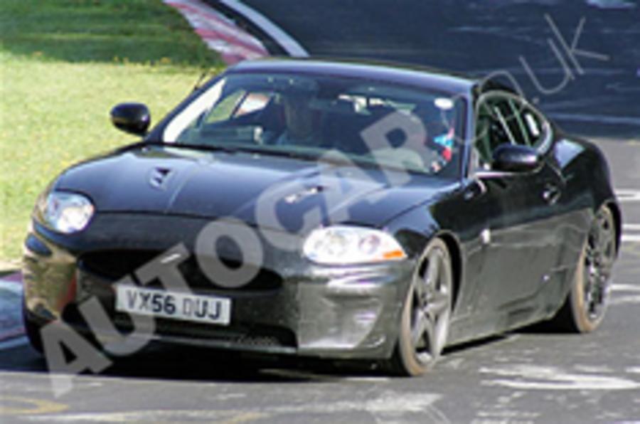 Diesel Jaguar XK caught testing