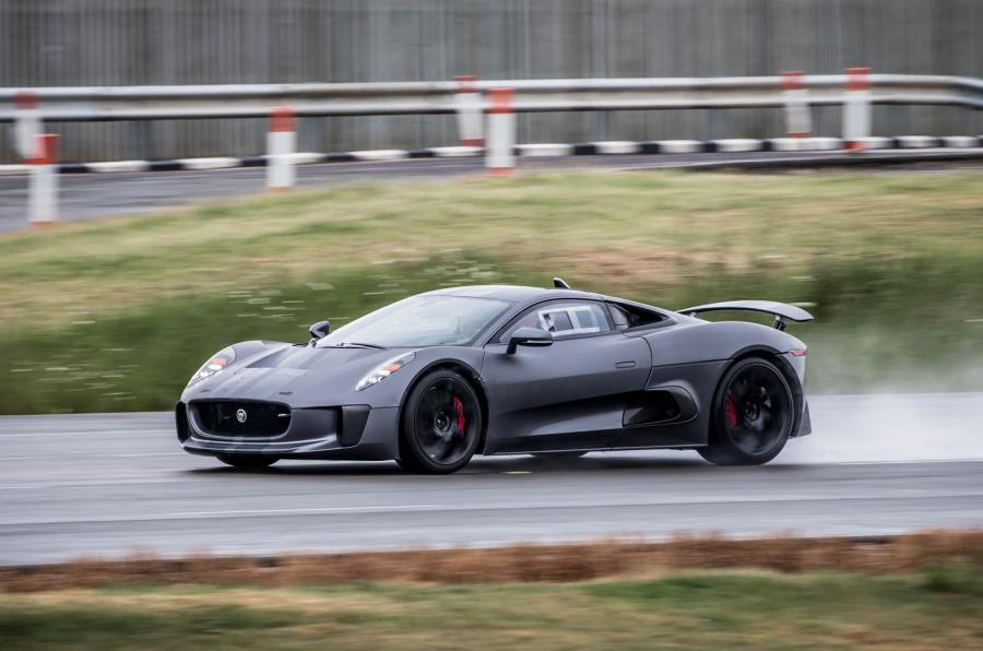 Jaguar C-X75 on track