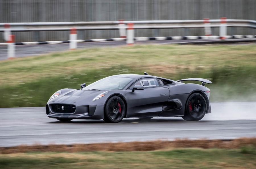 Jaguar C-X75 on track