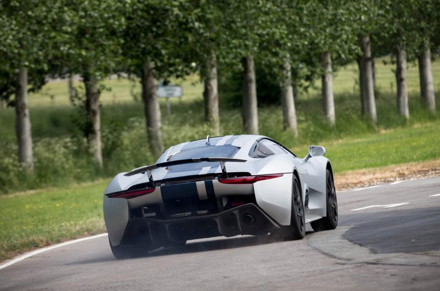 Jaguar C-X75 hard rear cornering