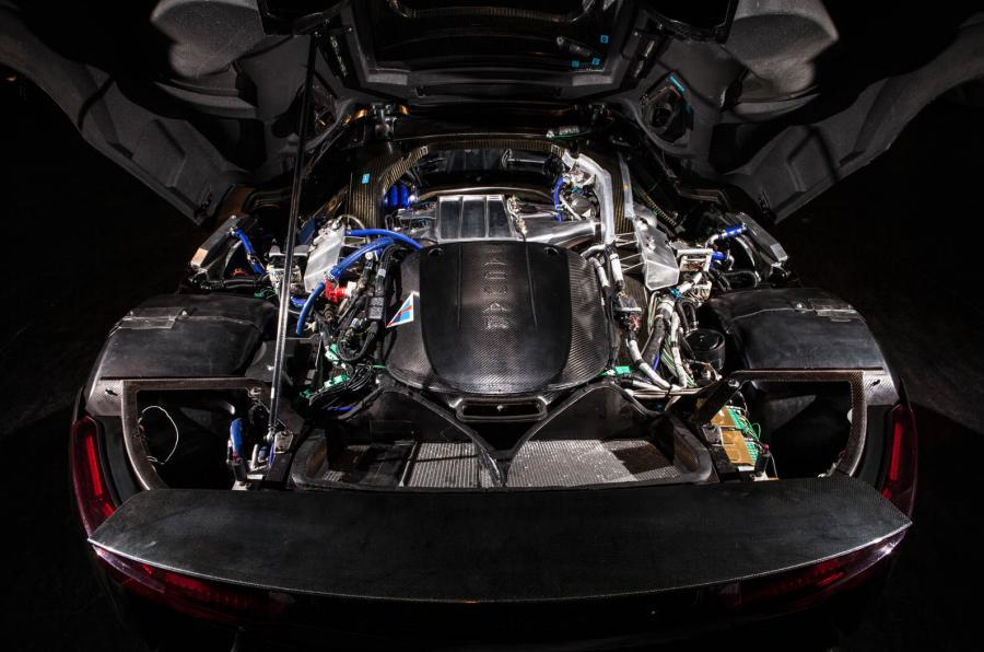 The hybrid Jaguar C-X75 engine