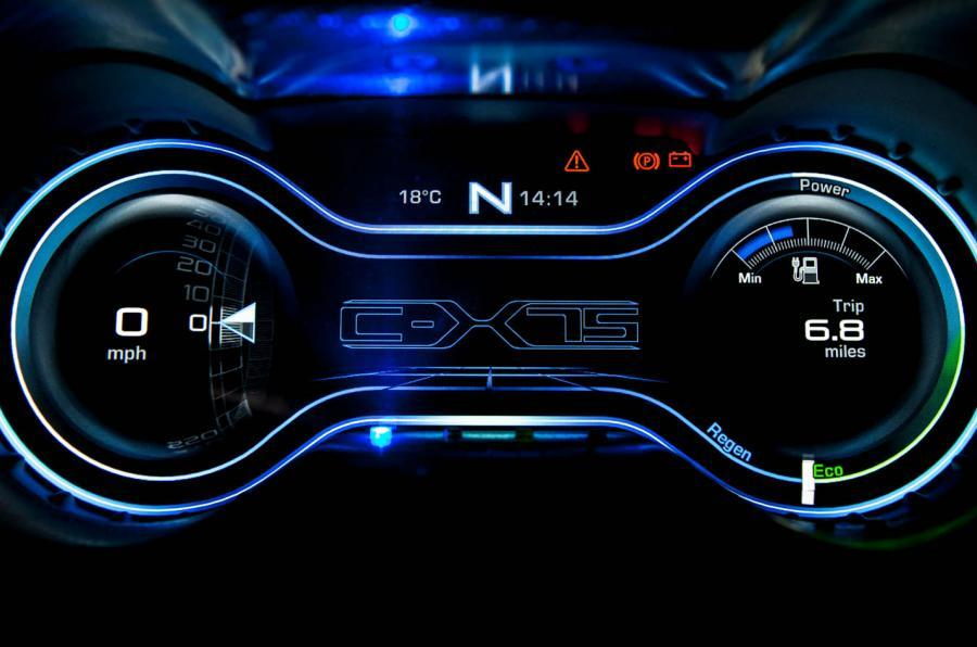 Jaguar C-X75 digital instrument cluster