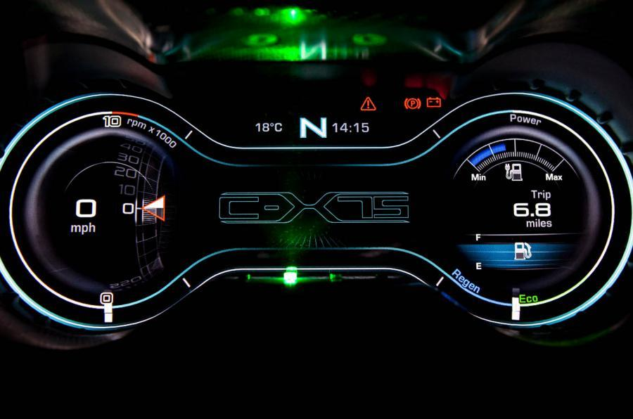 Jaguar C-X75 eco digital display