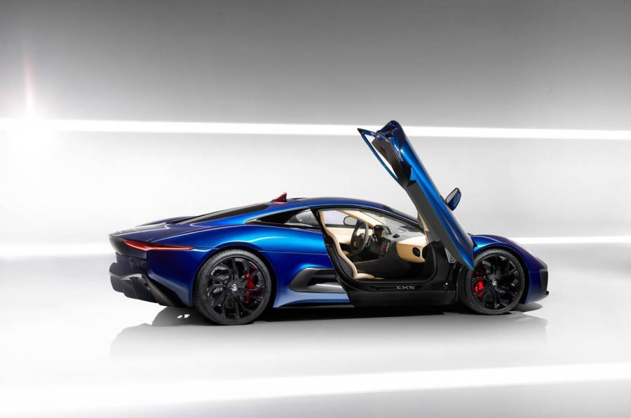 Jaguar c x75 2013 2015 review 2018 autocar jaguar c x75 gullwing door publicscrutiny Image collections