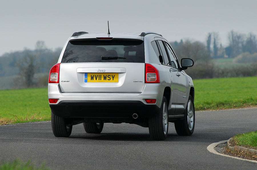 Jeep Compass rear cornering