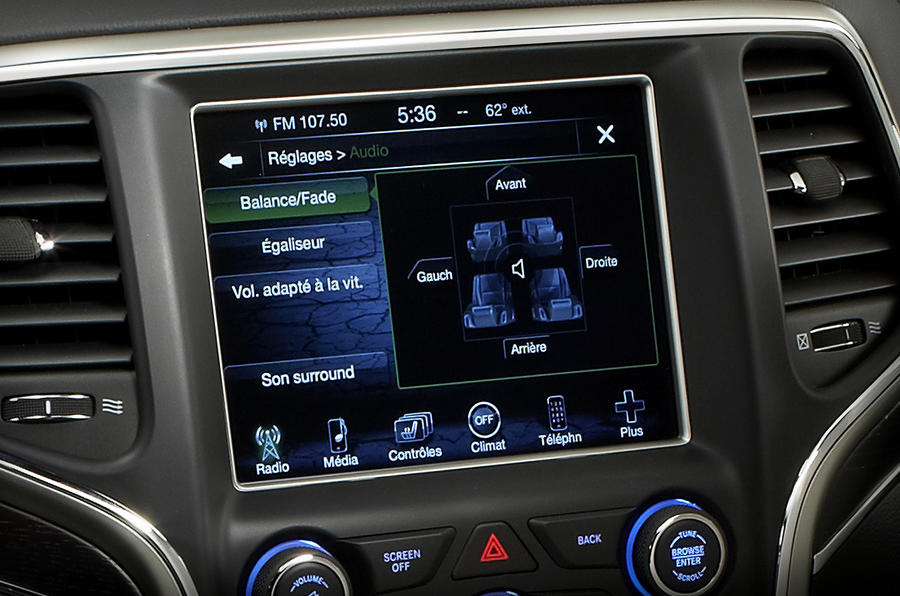 Jeep Grand Cherokee infotainment