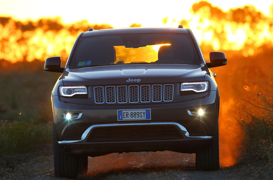 Jeep Grand Cherokee on fire