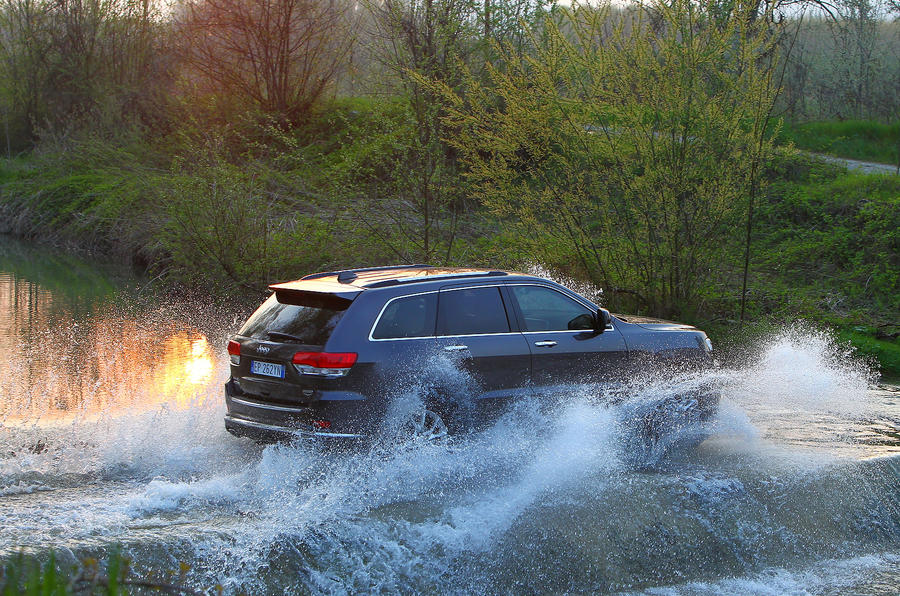 Jeep Grand Cherokee fording a river