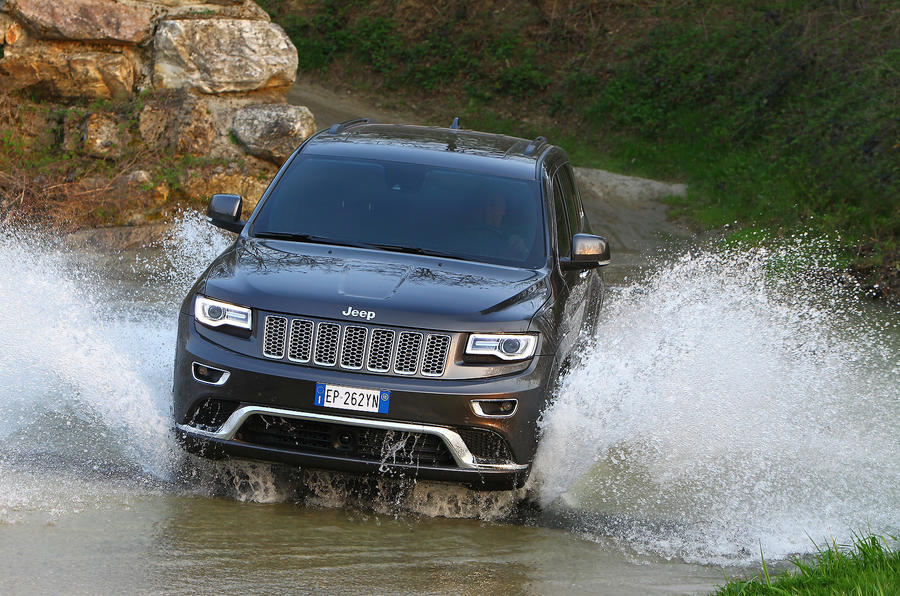 Jeep Grand Cherokee in water