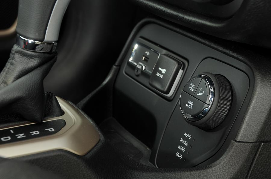 Jeep Renegade four-wheel drive modes