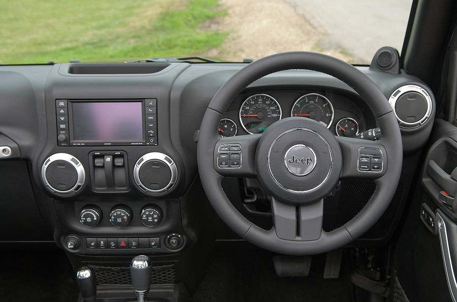 Jeep Wrangler dashboard